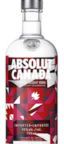 Absolut Canada, Canada's 150th Birthday Bottle Absolut, Absolut Canadian quilt bottle
